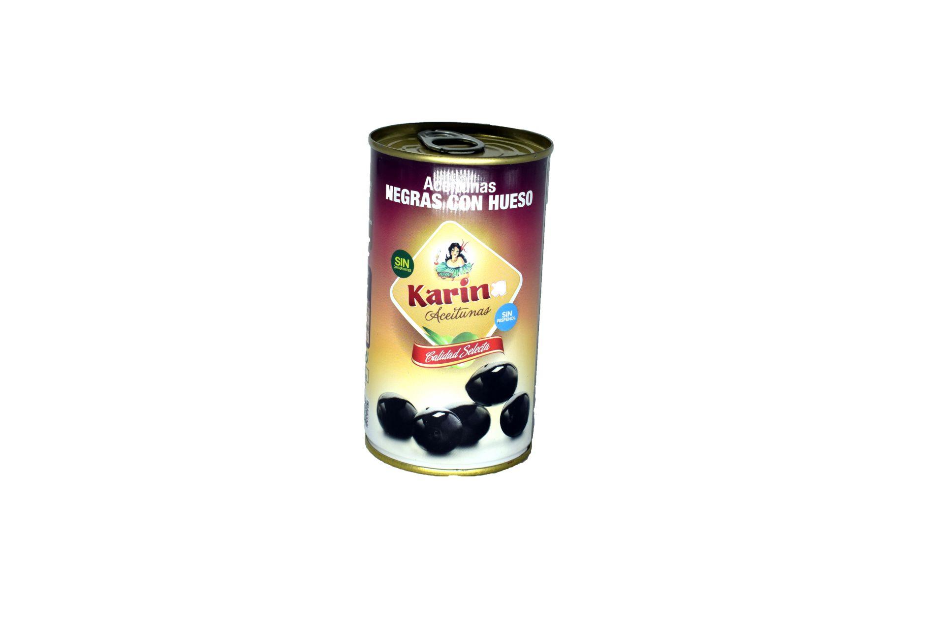 Aceitunas Negras Con Hueso Karina 185Grs. KARINA