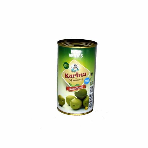Aceituna Verde Con Hueso 185 Grs. Karina
