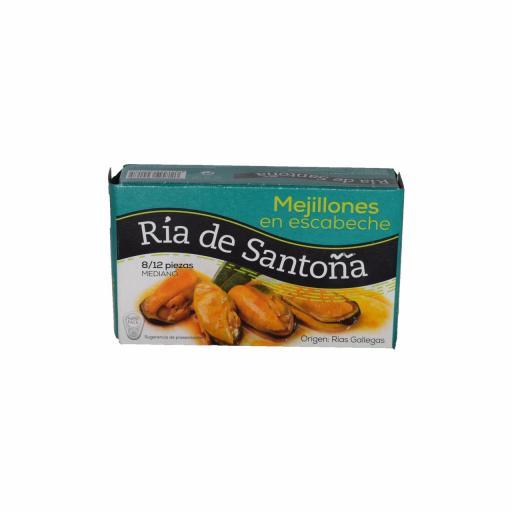 Mejillones Rias Gallegas Escabeche 8-12 Ria de Santoña