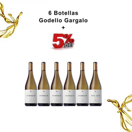 6 Botellas Vino Blanco Godello Gargalo 5% de DESCUENTO  [0]