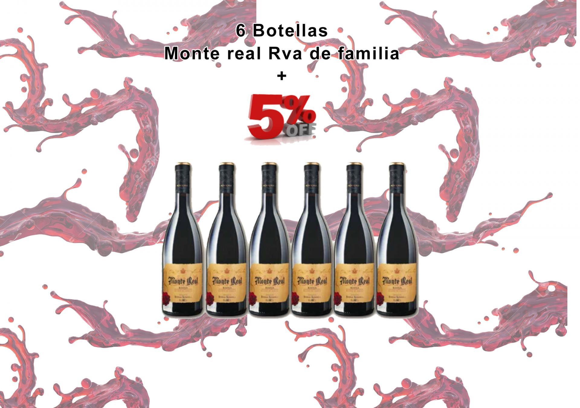 OFERTA - 6 Botellas Monte Real Rva de Familia - 5% de DESCUENTO
