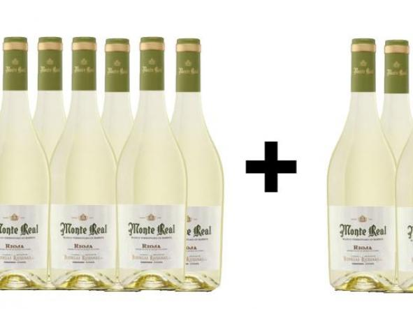 8 Botellas de Vino Blanco MONTE REAL + 4 de REGALO