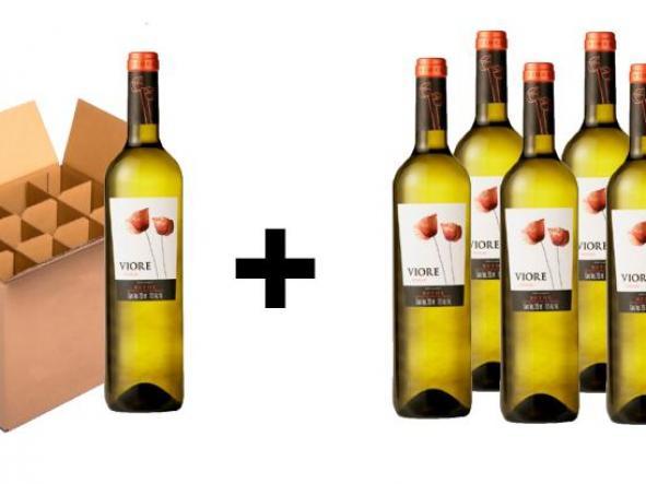2 Cajas (12 Bot por caja) de Vino Blanco Viore + 6 Botellas Magnum Sin Coste