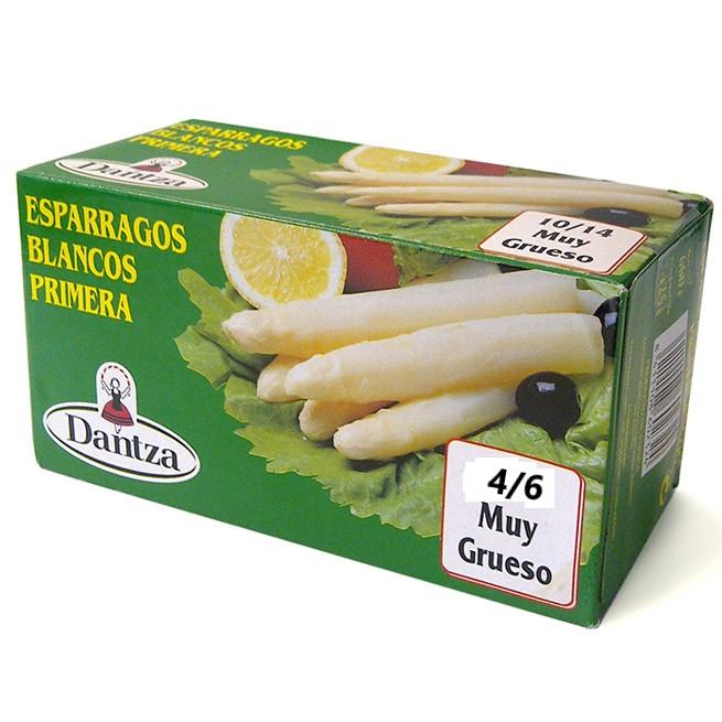 Esparrago Nacional DANTZA 1ª 4/6 Frutos lata kilo Extra Grueso