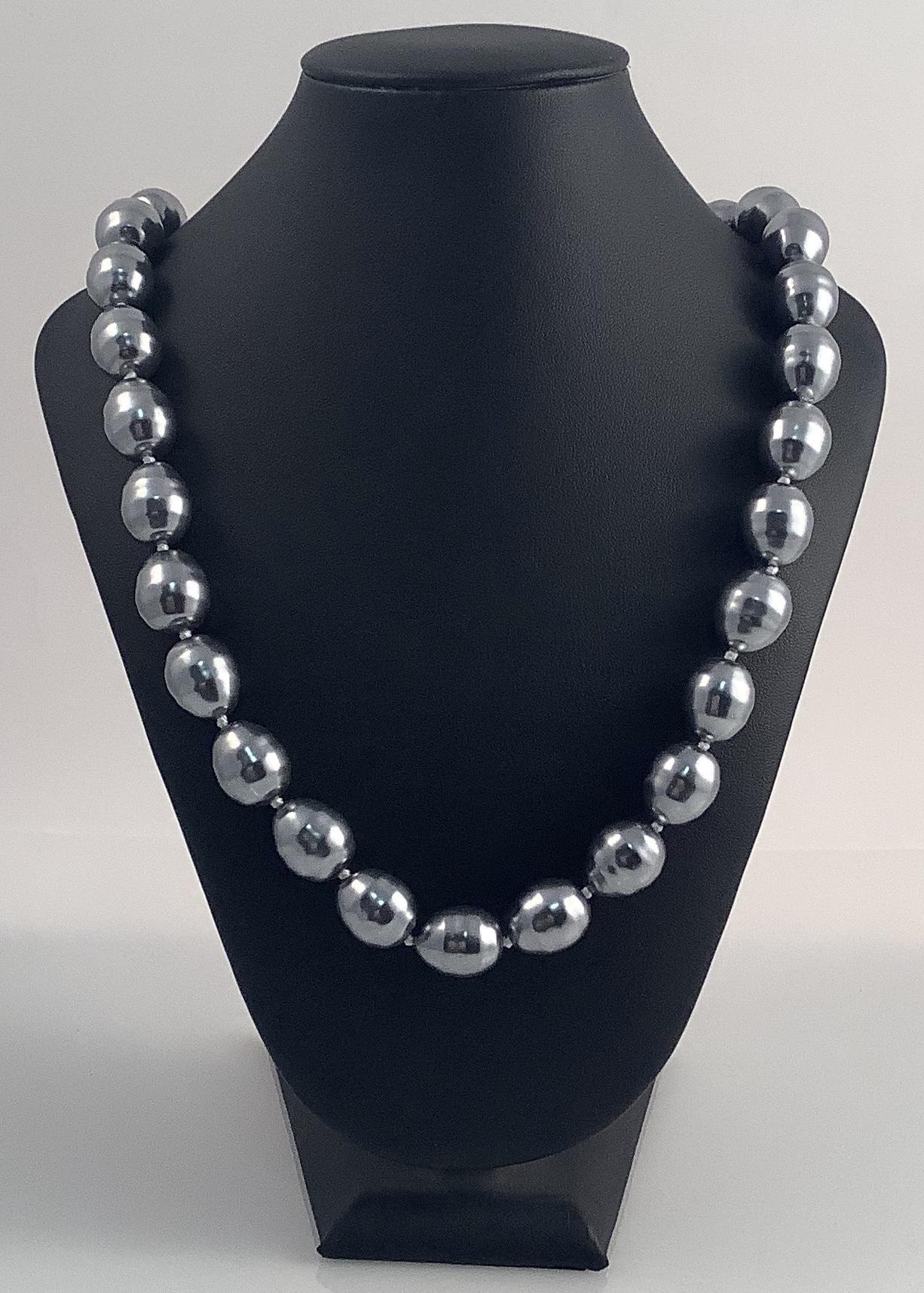 Collar Plata Perlas nacaradas