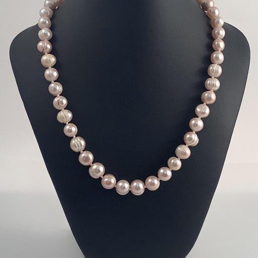Collar perlas rosaceas de Mallorca