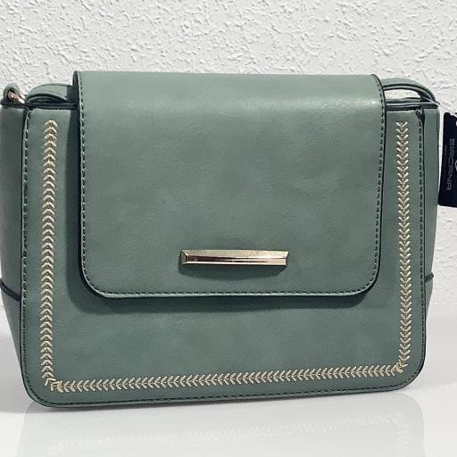 Bolso verde azulado