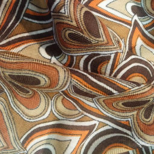 Foulard corazones tonos naranjas [1]