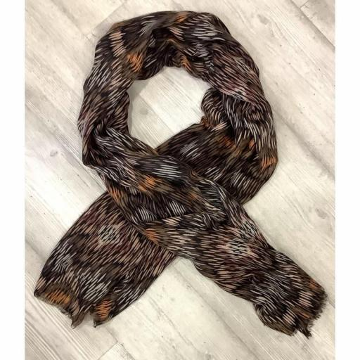 Foulard tonos marrones