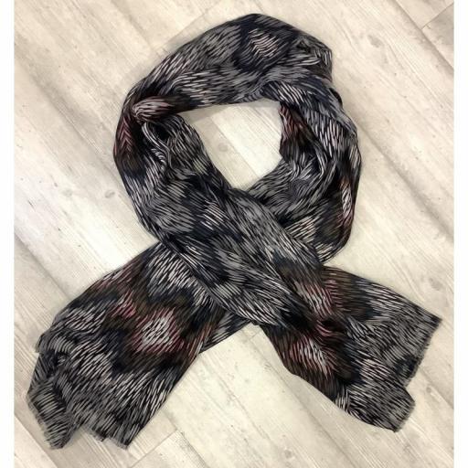 Foulard tonos grises