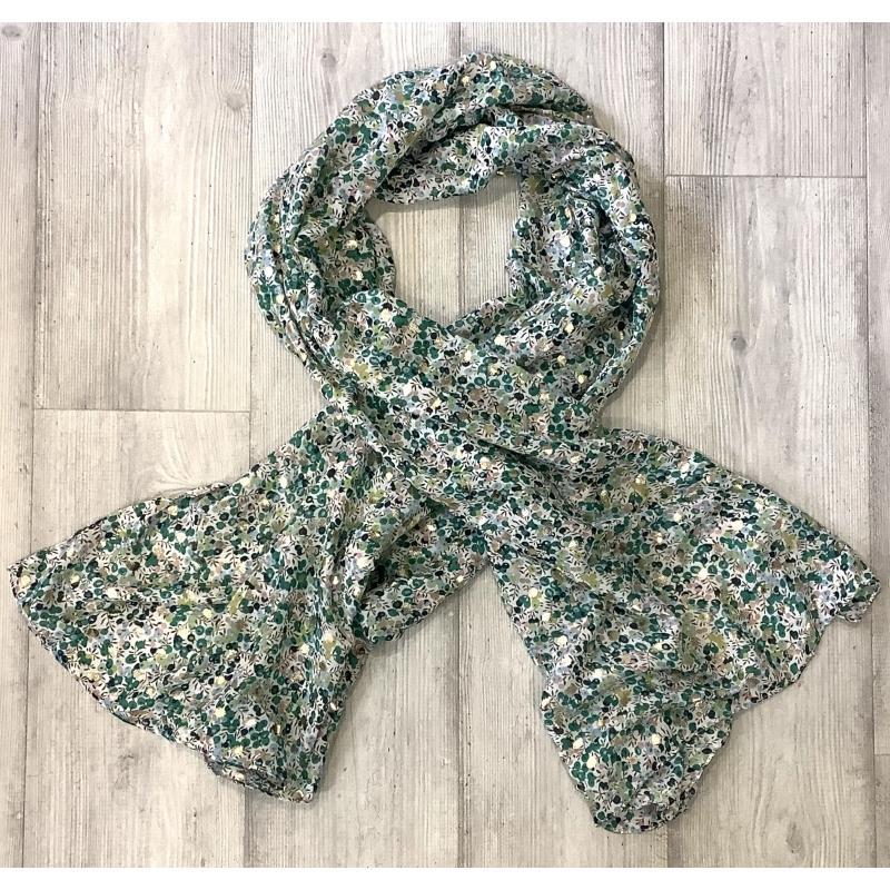Foulard tonos verdes