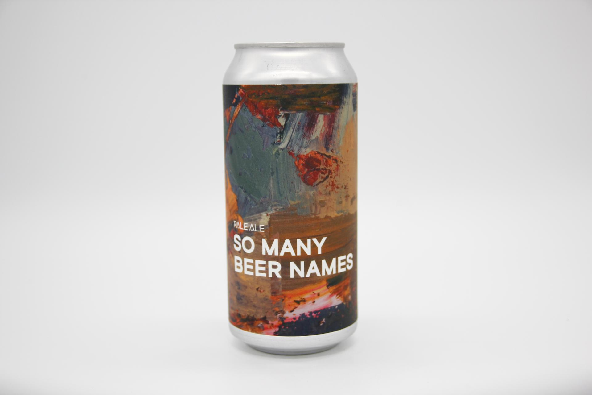 BOUNDARY - SO MANY BEER NAMES 44cl