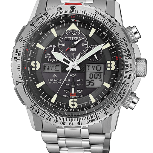 CITIZEN JY8100-80E  SUPER PILOT TITANIUM