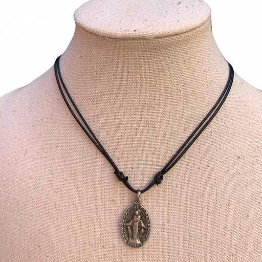 Collar Bambola - Virgen Plateada