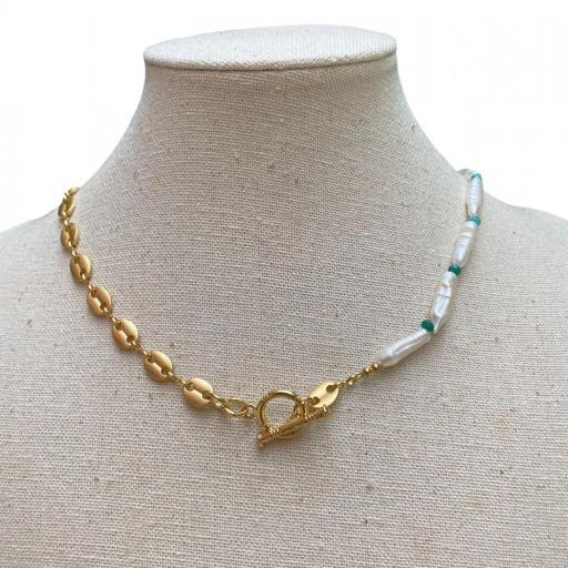 Collar Made in Mare - Eslabones grandes dorados