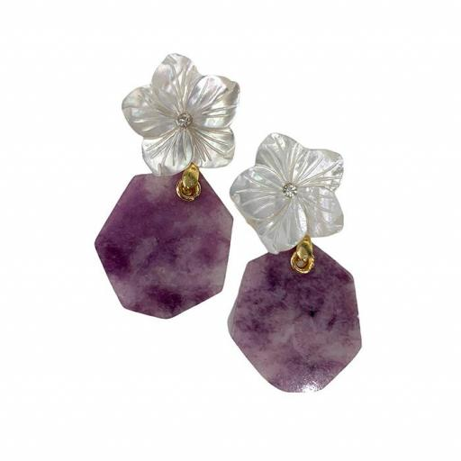 Pendientes Made in Mare - Purple Leaf