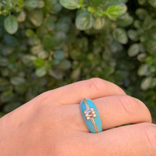 Anillo esmaltado - Azul turquesa