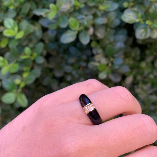 Anillo esmaltado - Negro