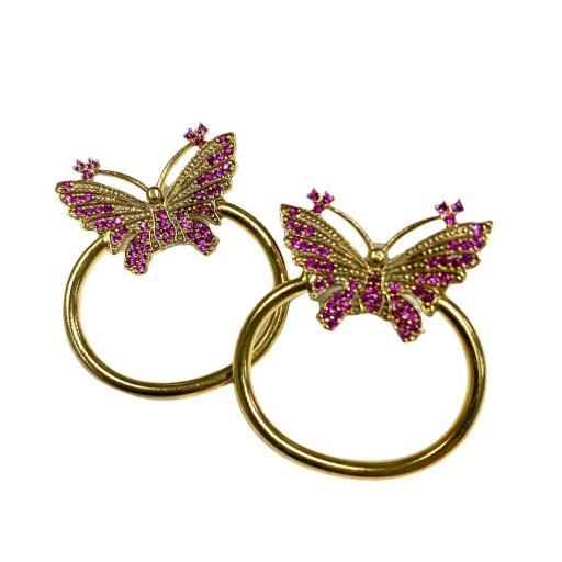 Pendientes estilo otomano - Mariposas doradas