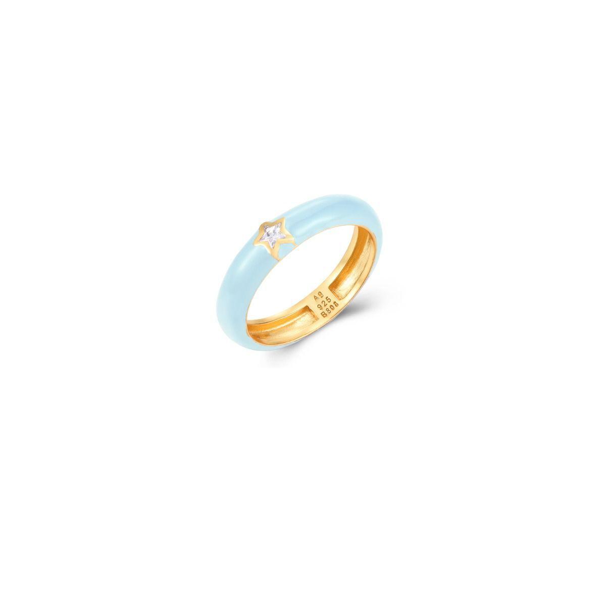 Anillo de Plata de Ley 925 - Azul