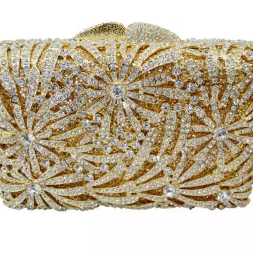 Bolso joya dorado