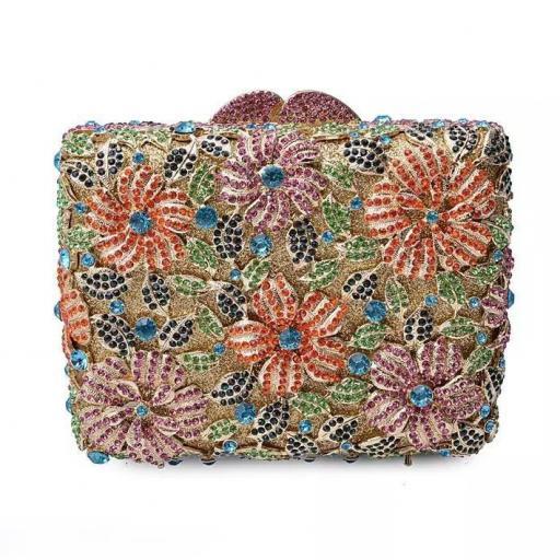 Bolso joya flores colores