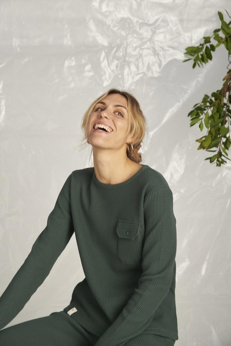 Camiseta Mont Blanc - Verde oscuro