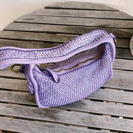 Bolso mini trenzado lila [2]