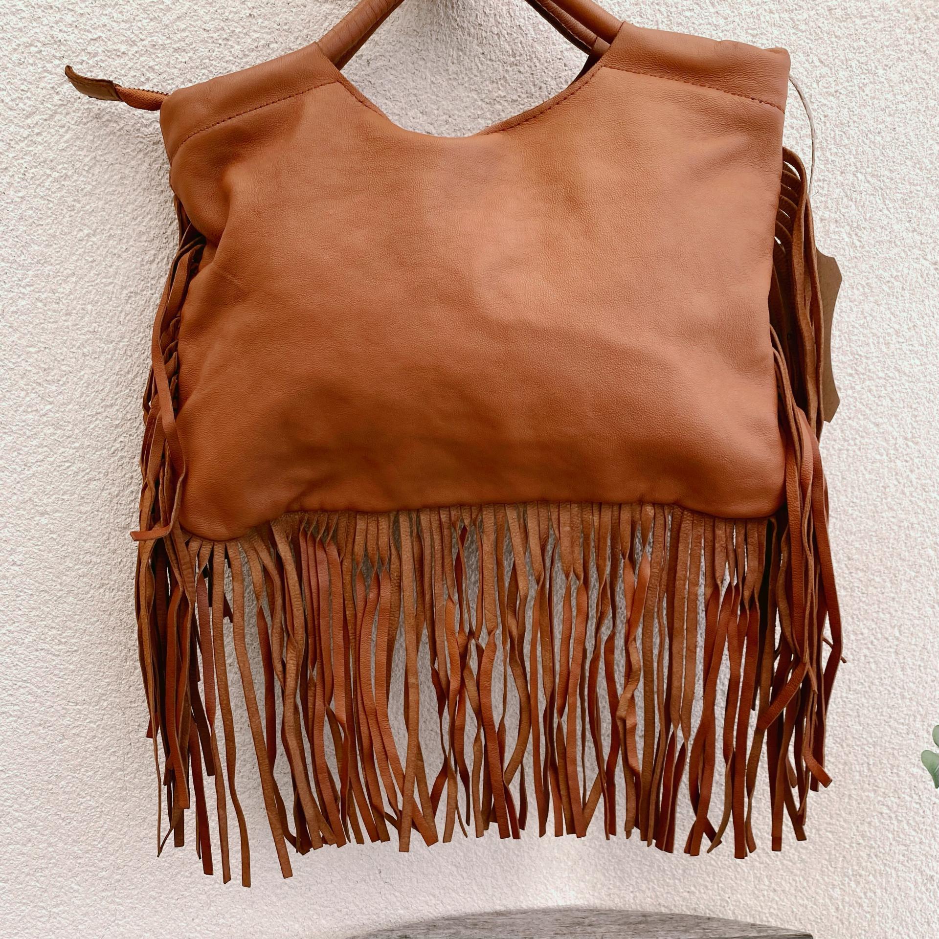 bolso cartera boho marrón