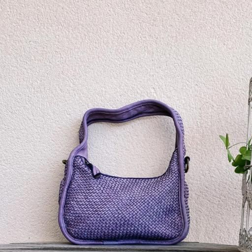 Bolso mini trenzado lila [3]