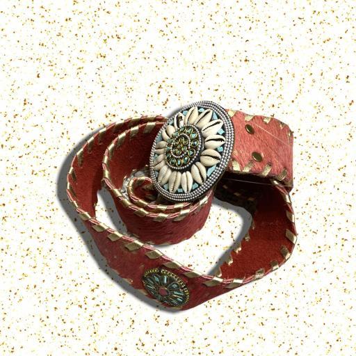 Cinturón color rojo