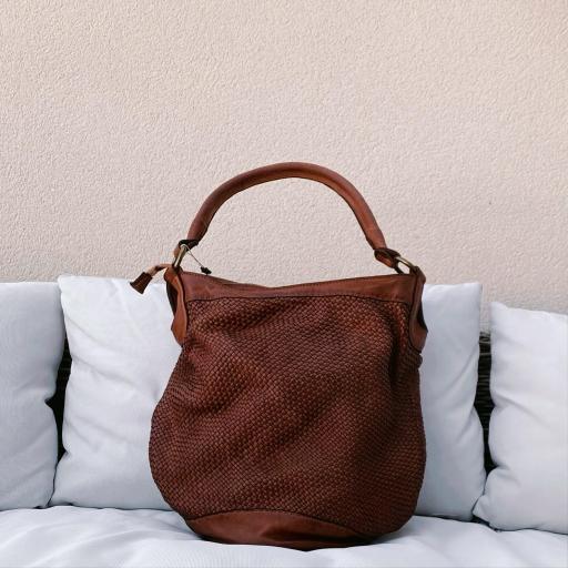 Bolso saco marrón