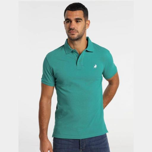 Lois Jeans Polo Filipo Classic Verde azulado 130584000 [0]
