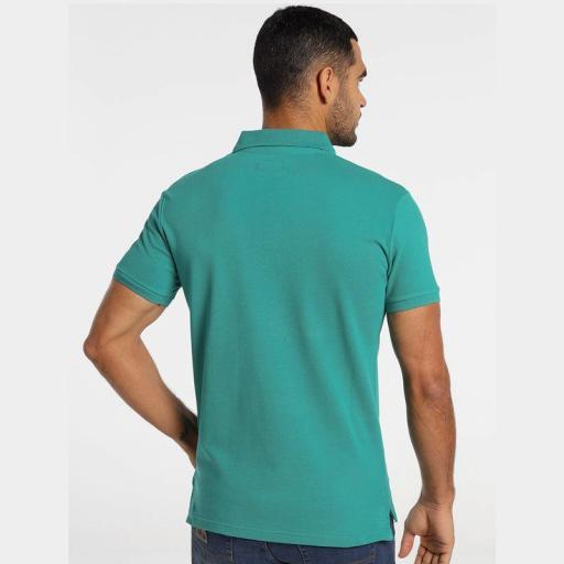 Lois Jeans Polo Filipo Classic Verde azulado 130584000 [1]