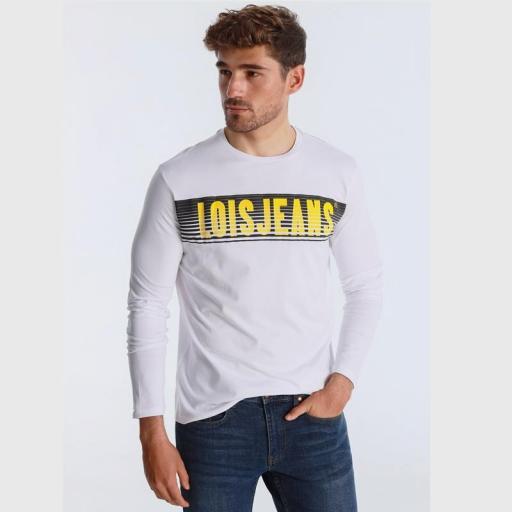 Lois Jeans Camiseta hombre Porter Eddar blanca 120292