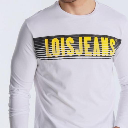 Lois Jeans Camiseta hombre Porter Eddar blanca 120292 [1]