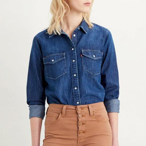 Levi's® Women's Essential Western Shirt - Air Space. Camisa vaquera mujer