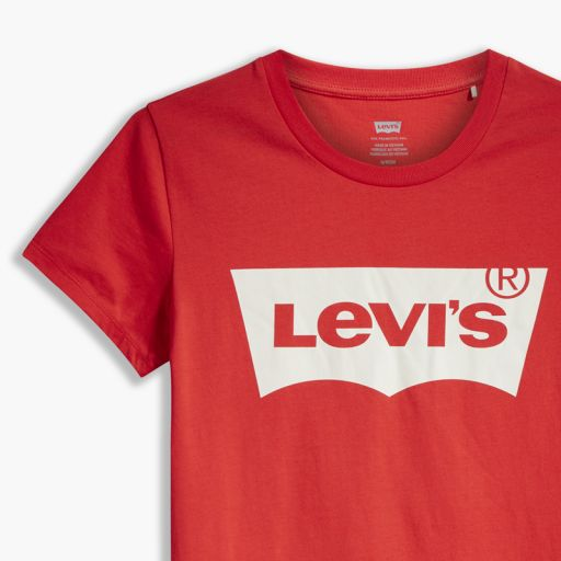 Levi´s The Perfect Tee - Batwing Poppy Red. 17369 1082. Camiseta mujer [2]