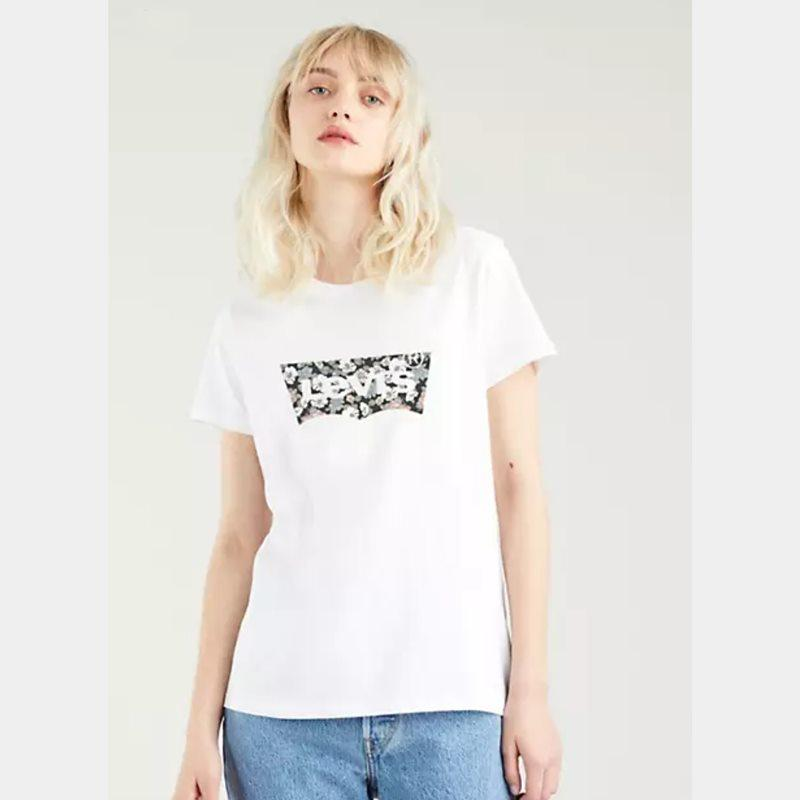 Levi's® The Perfect Tee Vanessa Floral White 17369 1635. Camiseta mujer