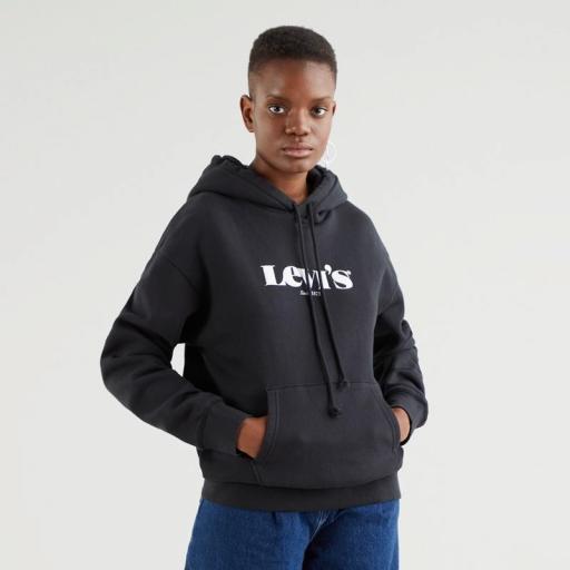 Levi's Standard Hoodie-New Logo Li Caviar 18487-0004. Sudadera mujer