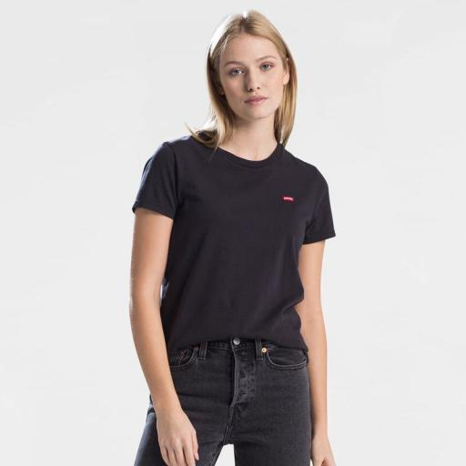 Levi's® Perfect Tee Mineral Black 39185-0008. Camiseta mujer