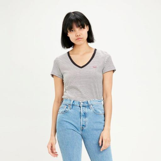 Levi's Perfect Vneck 85341 0004. Camiseta mujer