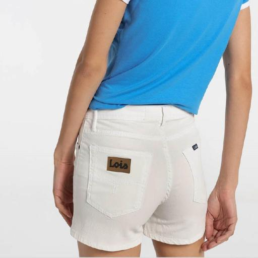 Lois Jeans Short Vaquero blanco Diana Master 122118 [1]