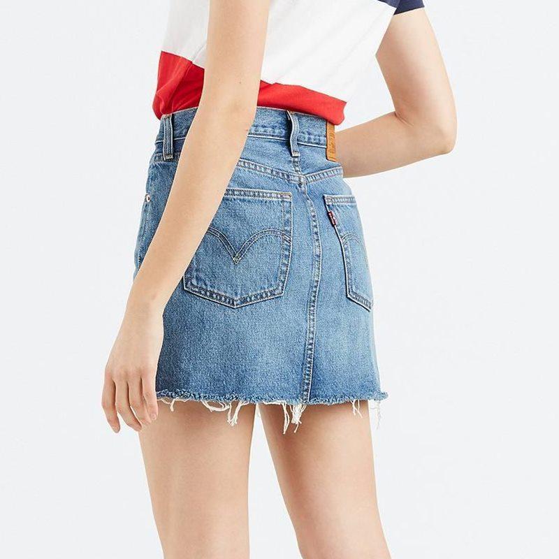 Levi´s Deconstructed Mini Skirt 34963-0023. Minifalda tejana