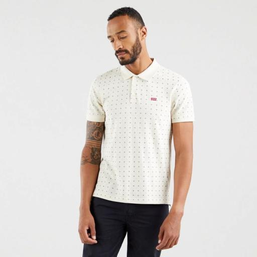 Levi's Standar Housemark Polo Minishapes Oatmeal 35883-0011. Polo hombre