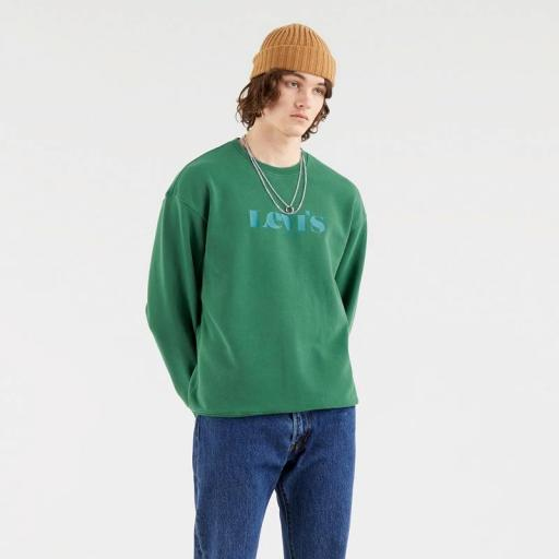 Levi's Relaxed Graphic Fleece Forest Biome 38712-0014. Sudadera hombre [2]