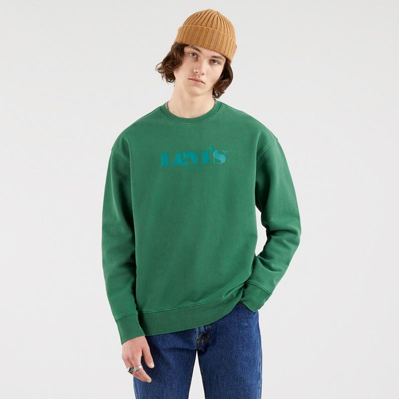 Levi's Relaxed Graphic Fleece Forest Biome 38712-0014. Sudadera hombre