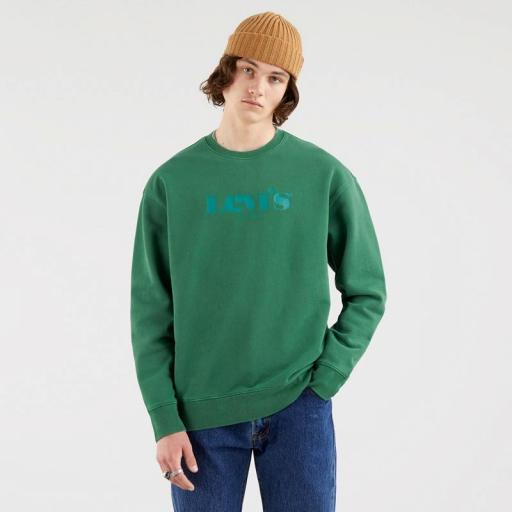 Levi's Relaxed Graphic Fleece Forest Biome 38712-0014. Sudadera hombre [0]