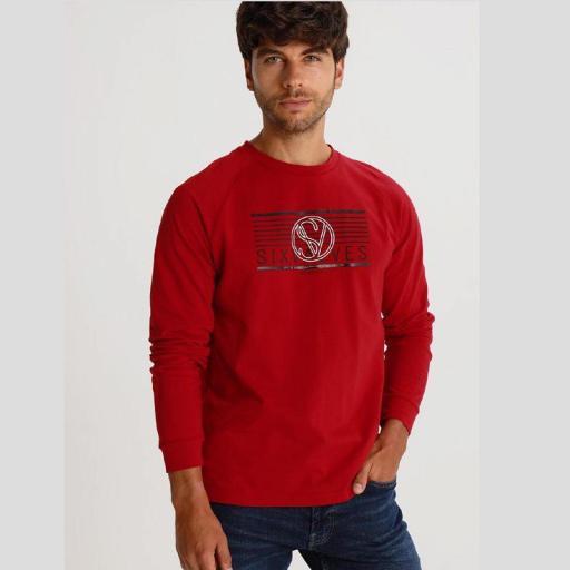 Six Valves Camiseta Manga Larga Roja Denmark 119905