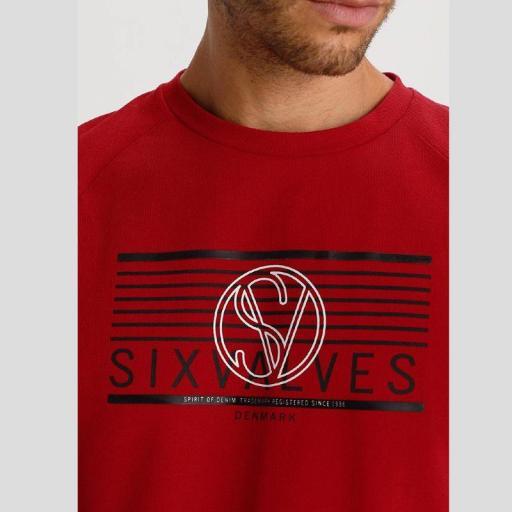 Six Valves Camiseta Manga Larga Roja Denmark 119905 [1]